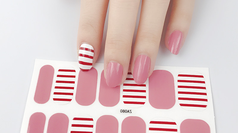 Love Stripe Gel Nail Wraps