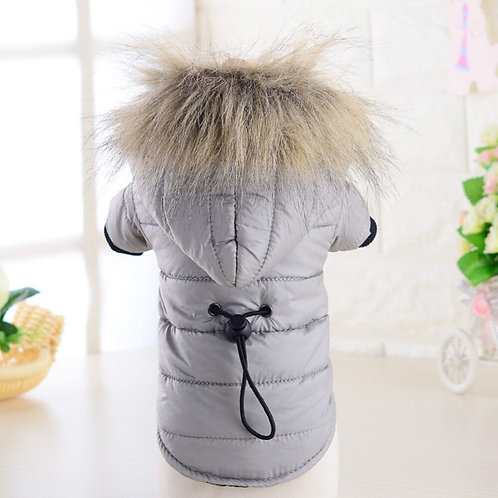 Hooded Winter Down Easy-To-Wear Dog Coat
