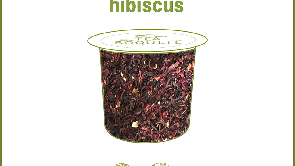 Hibiscus Tea Pods for Keurig Brewers K-Cup Compatible Capsules