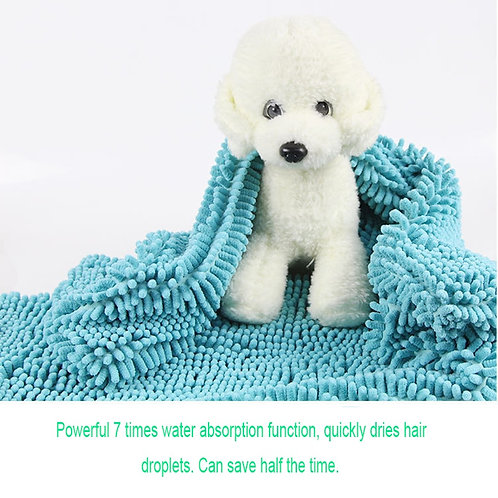Soft Water Absorption Bath Towel for Dogs  and Cats