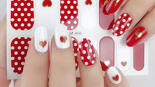 Hearts of Love Gel Nail Wraps