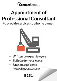 Professional Consultant Appointment (letter format) (B151)