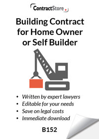 Building Contract suitable for self-builder (B152)