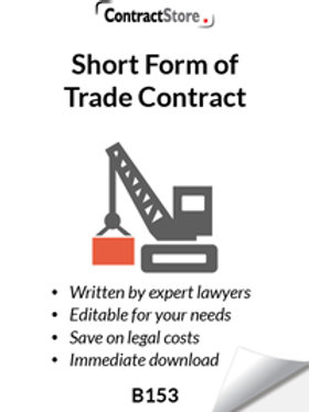 Short Form of Trade Contract (B153)