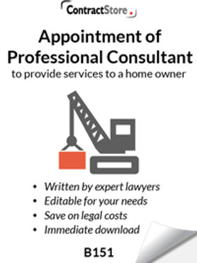 Appointment of Professional Consultant to provide services to a home owner