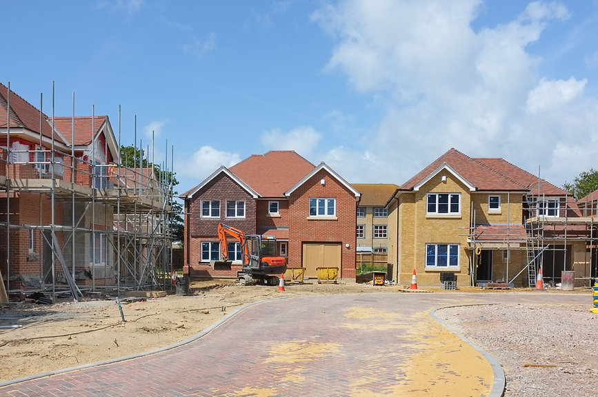 houses on construction site