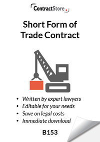 Trade Contract (letter format) (B153)