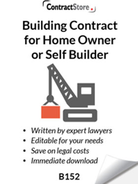 Building Contract for Home Owner or Self Builder (B152)