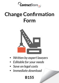 Change Confirmation Form (B155)