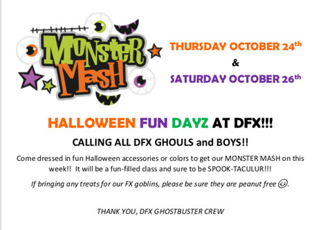 """HALLOWEEN FUN WEEK!  Join us for  """"FANG-tastic"""" fun and """"HOWLING"""" good time!!"""