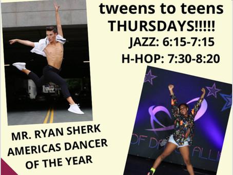 TWEENS to TEENS THURSDAYS!!