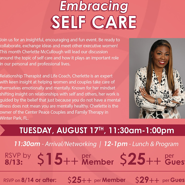 Women's Executive Exchange Embracing Self Care
