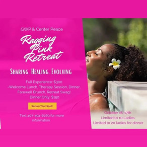 1 night Retreat &/or Dinner text 407.494.6269 for details.