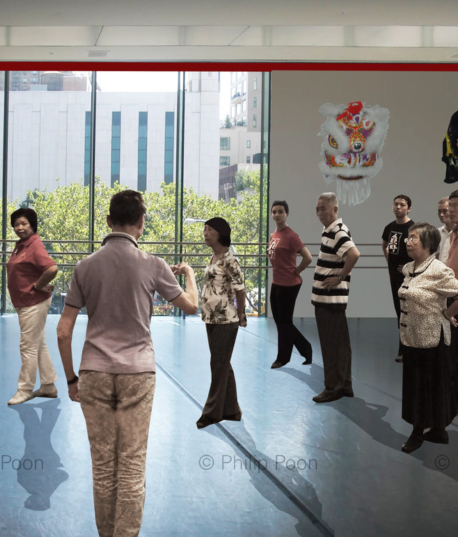 This is what the same class could look like in a newly constructed studio with large windows overlooking Columbus Park!  Chinatown deserves better!