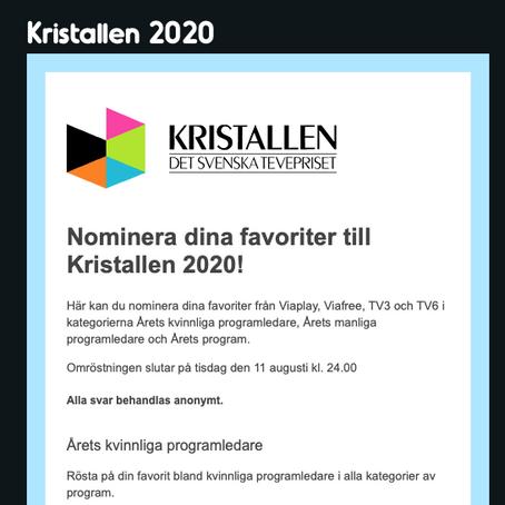 TV-serien Min Klassiker kan bli nominerad till Kristallen 2020