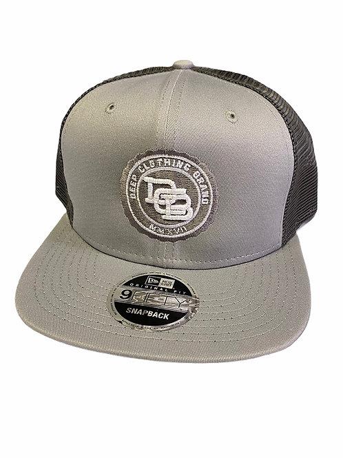 Grey Snap Back Hat - Monogram Logo
