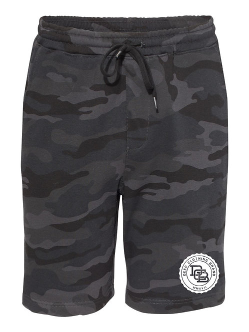 Black Camo MonoGram Shorts