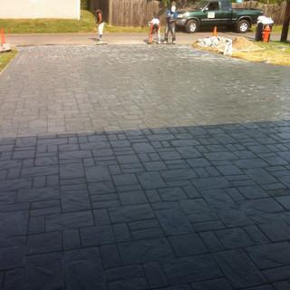 Driveway stone paver design
