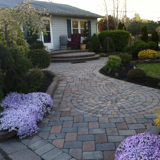 Stone walkway with medallion