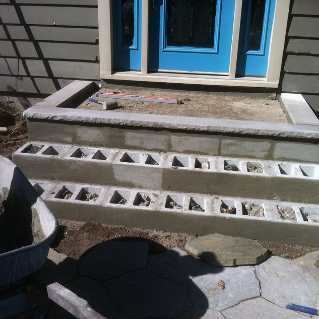 Building outdoor steps