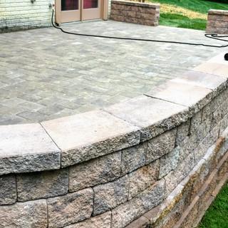 Stone Patio and Retaining Wall