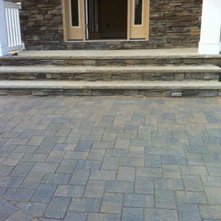 Cement and stone steps