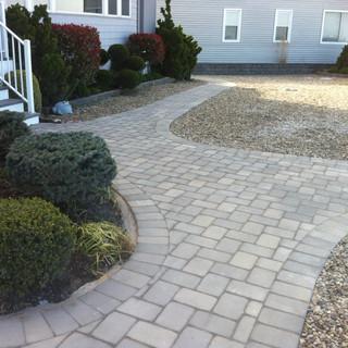 Gray stone walkways