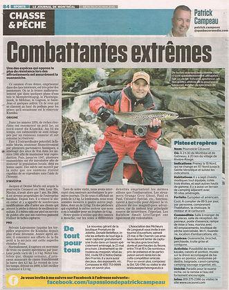 Article dans le Journal de Montréal 20 mai 2015