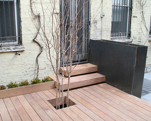 Decking makes access easy