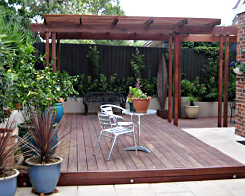 Decking + Pergola = Value