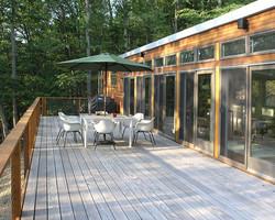 A grand outdoor living area