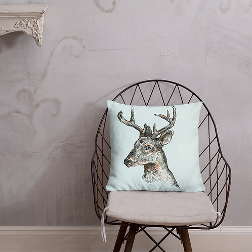 Deer Art_Premium Pillow