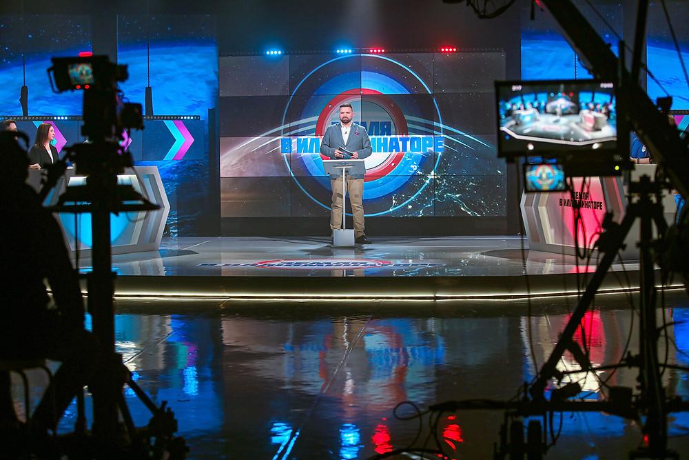 """Съёмка программы """"Земля в иллюминаторе"""" на канале ETV+"""