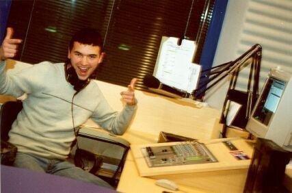 Максим Милованов в студии Русского Радио 2000 год