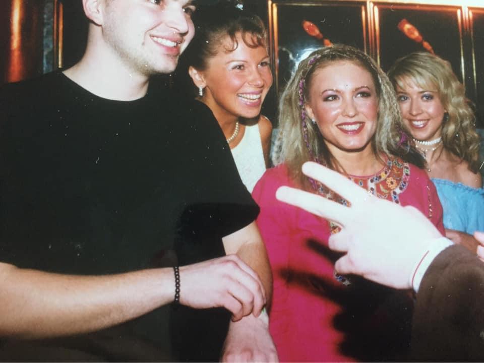 Максим Милованов, Диана Долгова, Юлия Календа, Алина Привалова 2001 год