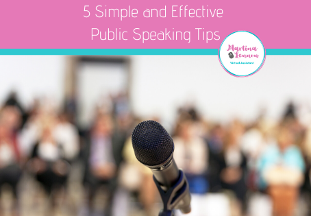 5 Simple and Effective Public Speaking Tips