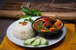 Beef Casserole & Rice