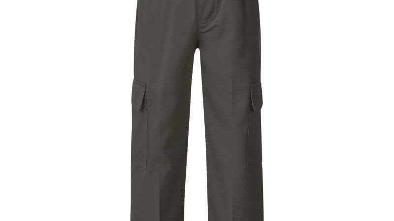 Boys' Grey Long Cargo Pants