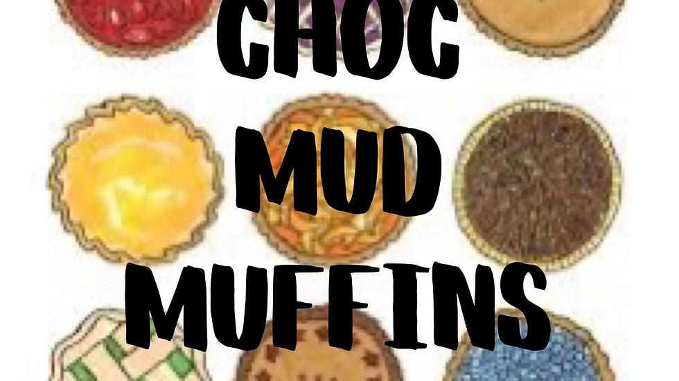 Chocolate Mud Muffins (6 pack)