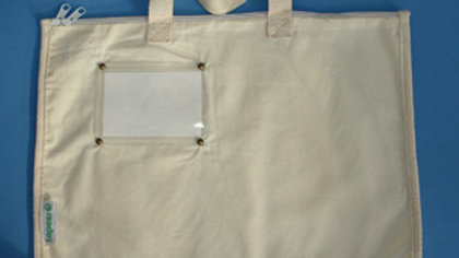 Large Calico Pouch with zip