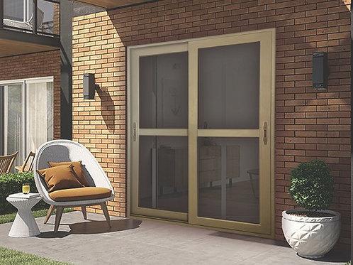 PolarBear Tech Bronze Door with Security Screen