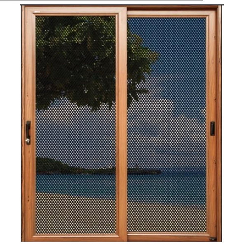 PolarBear Tech Wood Grain Door with Security Screen