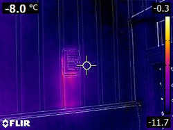 IR - Heat loss from the interior of the