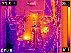 IR - Showing loose connections in panel.