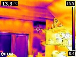 IR - Compressed insulation and moisture
