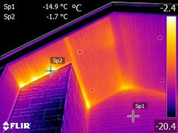 IR - Air exfiltration at the wall and so