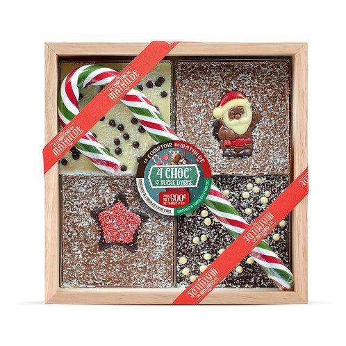 4 Choc' & Sucre d'Orge Edition de Noël - Chocolat à Casser 4 Choc' & Sucre d'