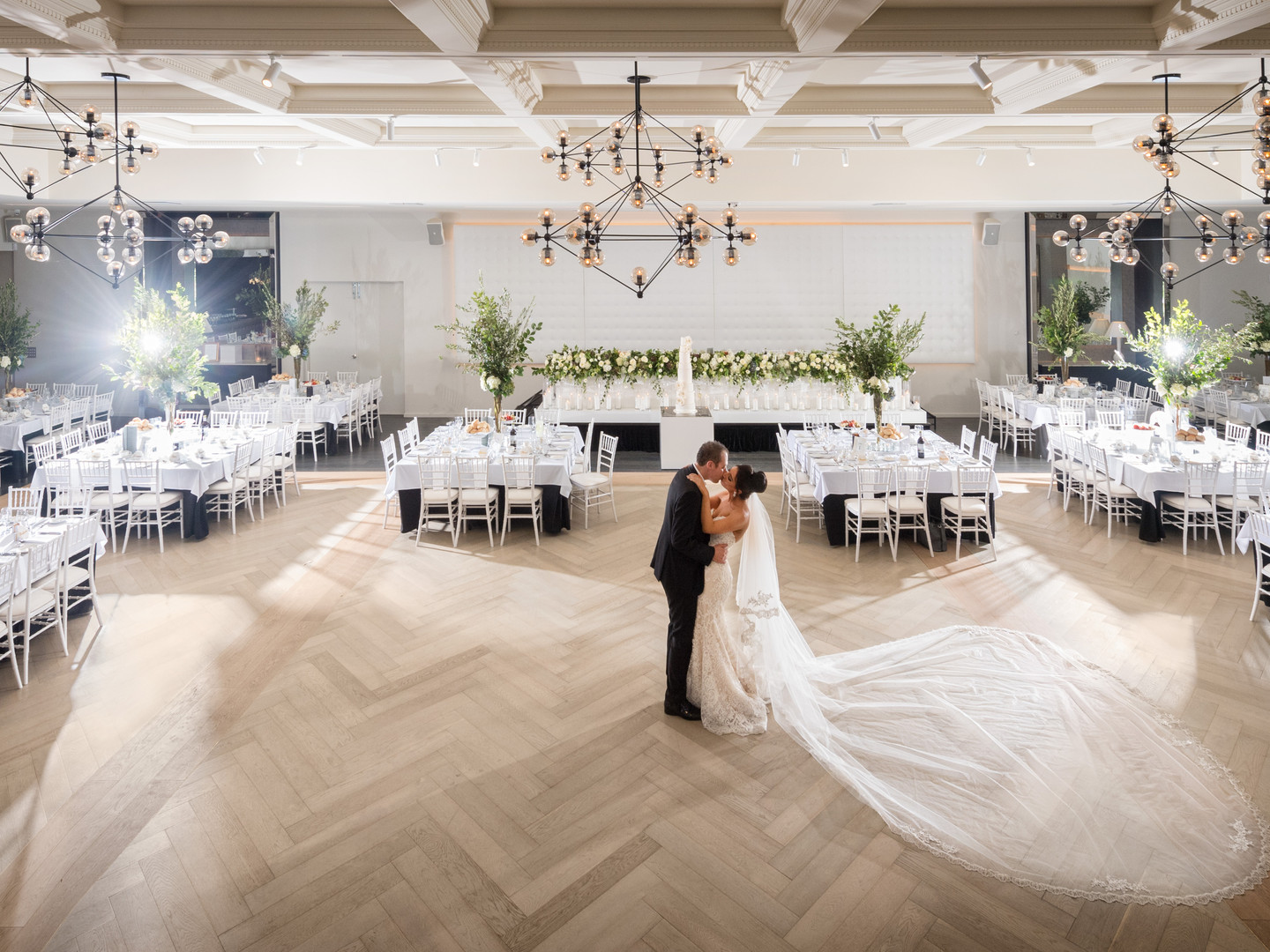 Kissing In Ballroom | Meadowbank Estate | Wedding Venue | Campbellfield