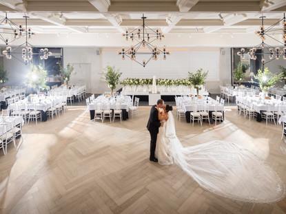 Kissing In Ballroom | Meadowbank Estate | Wedding Venue | Campbellfield