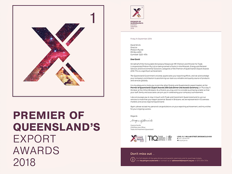 QUEENSLAND EXPORT AWARDS FINALIST 2018